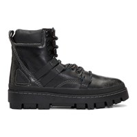 Diesel Black D Vibe Hiking Boots