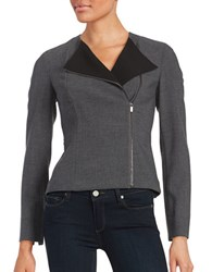 Calvin Klein Asymmetrical Zip Front Jacket Charcoal Black