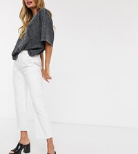 Reclaimed Vintage Inspired Cropped Flare Jean In White