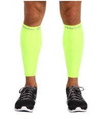 Zensah Compression Leg Sleeves Neon Yellow Athletic Sports Equipment