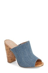 Women's Charles By Charles David 'Gansevoort' Block Heel Mule Navy Denim