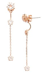 Nadri Women's Wishes Drop Back Earrings Rose Gold Clear