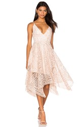 Nicholas Geo Floral Lace Ball Dress Pink
