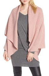 Halogen Ribbed Cashmere Wrap Pink Rosecloud Heather