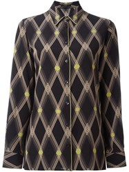 Etro Geometric Print Shirt Black