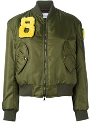 Forte Couture Zipped Bomber Jacket Green