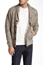 Weatherproof Marled Knit Faux Shearling Cardigan