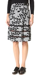 Marc Jacobs Animal Flocked Pleated Skirt Plaid Multi