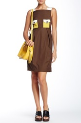 Orla Kiely Sleeveless Dress Brown