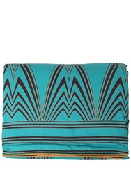 Roberto Cavalli Deco Cotton Satin Throw Blue