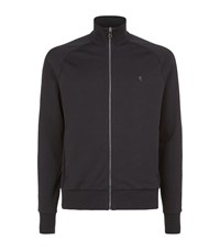 Ralph Lauren Purple Label Small Pony Zip Up Hoodie Male Black