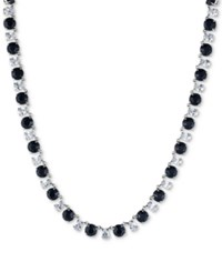 Carolee Silver Tone Stone And Crystal All Around Collar Necklace Blue