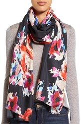 Women's Kate Spade New York 'Blurry Floral' Silk Oblong Scarf