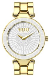 Women's Versus By Versace 'Sertie' Etched Enamel Bezel Watch 38Mm