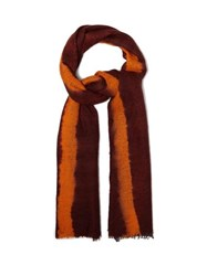Allude Tie Dye Cashmere Scarf Orange Multi