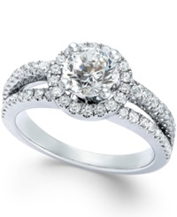 Macy's Certified Diamond Engagement Ring In 14K White Gold 1 3 4 Ct. T.W.