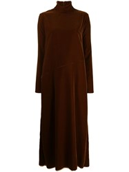 Maison Martin Margiela Mm6 Velvet Dress Brown