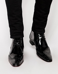 Jeffery West Brogue Short Boots Black