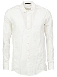 The Viridi Anne The Viridi Anne Pleat Detail Shirt White