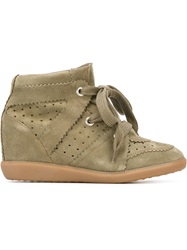 Isabel Marant 'Bobby' Concealed Wedge Sneakers Green