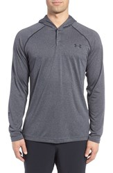 Under Armour Men's 'Ua Tech' Long Sleeve Hooded Henley Carbon Heather