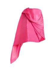 Issey Miyake Madame T Pleated Scarf Pink