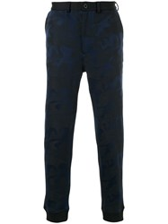 Loveless Fitted Tailored Trousers Acrylic Polyester Polyurethane Black