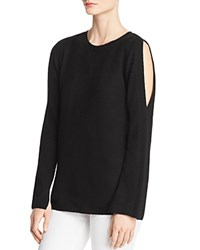 Bloomingdale's C By Cold Shoulder Cashmere Sweater 100 Exclusive Black