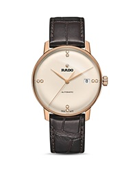 Rado Coupole Classic Automatic Rose Gold Pvd Watch With Diamonds 38Mm