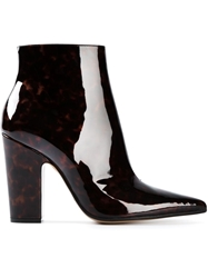 Maison Martin Margiela Tortoise Shell Ankle Boots Brown