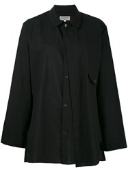 Yohji Yamamoto Wide Sleeve Button Up Shirt Black
