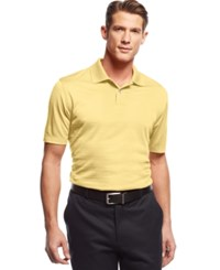 John Ashford Short Sleeve Solid Textured Performance Polo Shirt Faded Dandelion