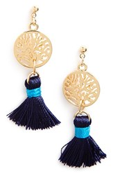 Women's Cara 'Regatta' Coin And Tassel Drop Earrings