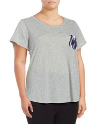 Marc New York Ikat Accented Jersey Knit T Shirt Grey