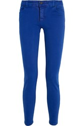 Victoria Beckham Powerskinny Mid Rise Jeans Blue