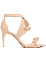 Alexandre Birman 'Lolita' Bow Sandals Women Calf Leather Leather 38.5 Nude Neutrals