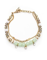 Lonna And Lilly Soft Green Goldtone Bead Bracelet