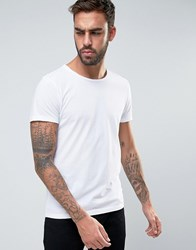 Boss Orange By Hugo Raw Edge T Shirt Regular Fit In White White