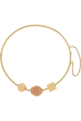 Chloe Gold Tone Marble Necklace