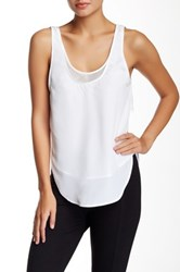 Madison Marcus Mesh Lined Tank White