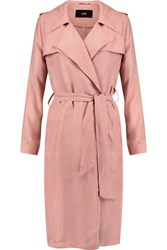 Line Margaux Washed Twill Trench Coat Antique Rose