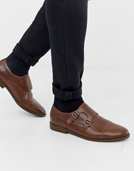 New Look Monk Strap Shoes In Brown