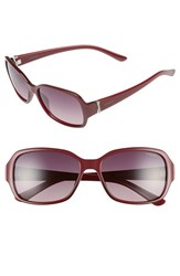 Women's Polaroid Eyewear 56Mm Polarized Sunglasses Burgundy Polarized