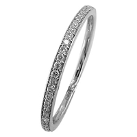 Ewa 18Ct White Gold Half Eternity 0.12Ct Diamond Ring Size M