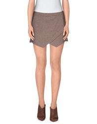 Alysi Skirts Mini Skirts Women Dove Grey