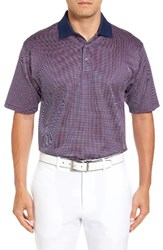 Bobby Jones Men's Geo Jacquard Polo Summer Navy