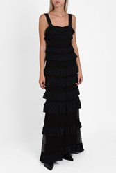 Isabel Marant Women S Layered Lace Maxi Dress Boutique1 Black