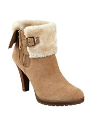 Anne Klein Talasi Suede Faux Fur Lined Booties