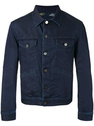 Jacob Cohen Button Up Denim Jacket Blue