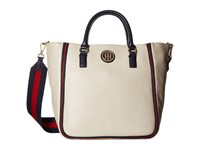 Tommy Hilfiger Alice Pebble Shopper Oatmeal Handbags Brown